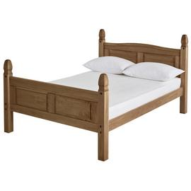 Argos Home Puerto Rico Double Bed Frame - Dark Pine