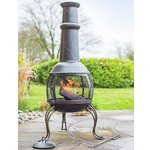 more details on La Hacienda Large Leon Steel Chimenea.