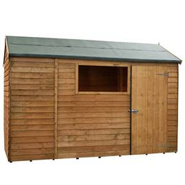 Mercia Wooden 10 x 6ft Overlap Reverse Apex Shed