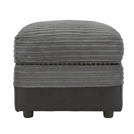 Argos Home Harley Fabric Storage Footstool - Charcoal