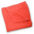 more details on Silver Cloud Cotton Blanket - Coral.