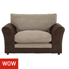 Argos Home Harley Fabric Cuddle Chair - Mink