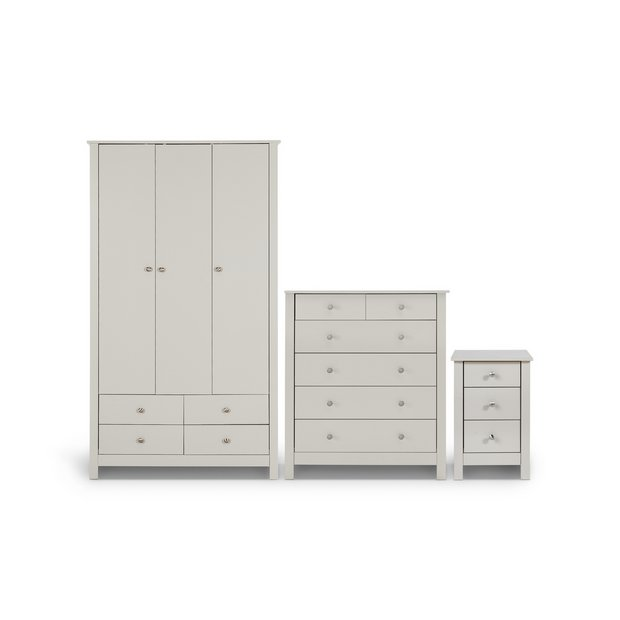 Buy collection osaka 3 pc bedroom furniture package soft for Furniture 3 room package