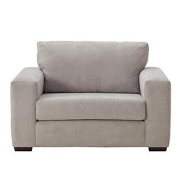 Argos Home Eton Fabric Cuddle Chair - Grey