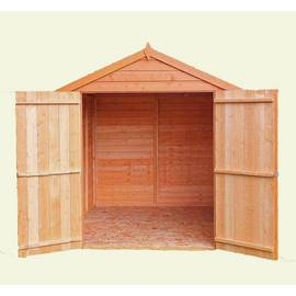 Homewood Wooden 8 x 6ft Overlap Double Door Shed Best Price, Cheapest Prices