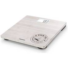 Leifheit Digital Bathroom Scales - White Bamboo.