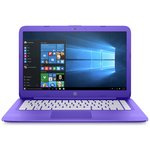 more details on HP Stream 14 Inch Intel Celeron 4GB 32GB Laptop - Purple.