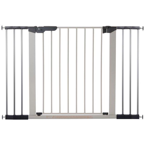 buy babydan premier extra wide safety gate silver. Black Bedroom Furniture Sets. Home Design Ideas