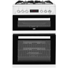 Beko KDG653W Double Gas Cooker - White