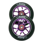 more details on Pair of Razor Scooter Wheels with ABEC9 Bearings - Purple.