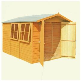 Homewood Wooden 10 x 7ft Overlap Double Door Shed