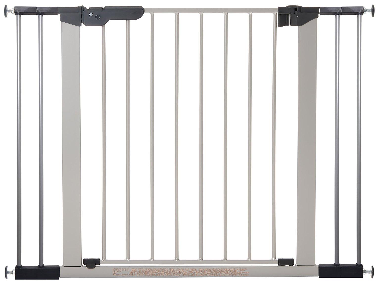 BabyDan Premier Wide Safety Gate   Silver