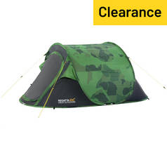 Regatta 2 Man 1 Room Malawai Pop Up Tent - Camo