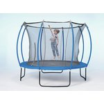 more details on Colours By Plum 10ft Trampoline - Blue/ Lime.