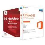 more details on Microsoft Office 365 Home and McAfee TP - 5 Devices.