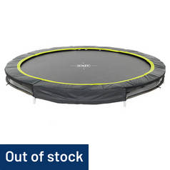 EXIT 8ft Black Edition Ground Trampoline