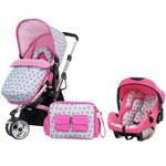 more details on Obaby Chase Travel System - Cottage Rose.