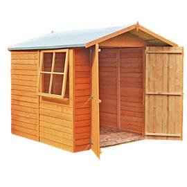 Homewood Wooden 7 x 7ft Overlap Double Door Shed Best Price, Cheapest Prices