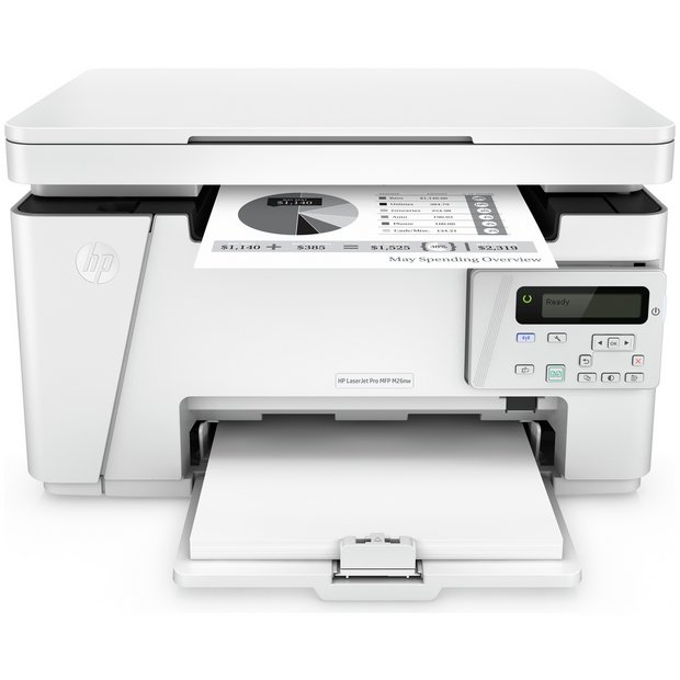 Buy hp laserjet pro m26nw all in one wi fi mono laser for Best home office multifunction laser printer