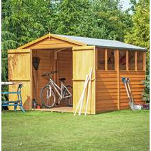 Homewood Overlap Double Door Wooden Shed 10 x 6ft Best Price, Cheapest Prices