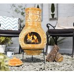 more details on La Hacienda Companero Clay Chimenea.
