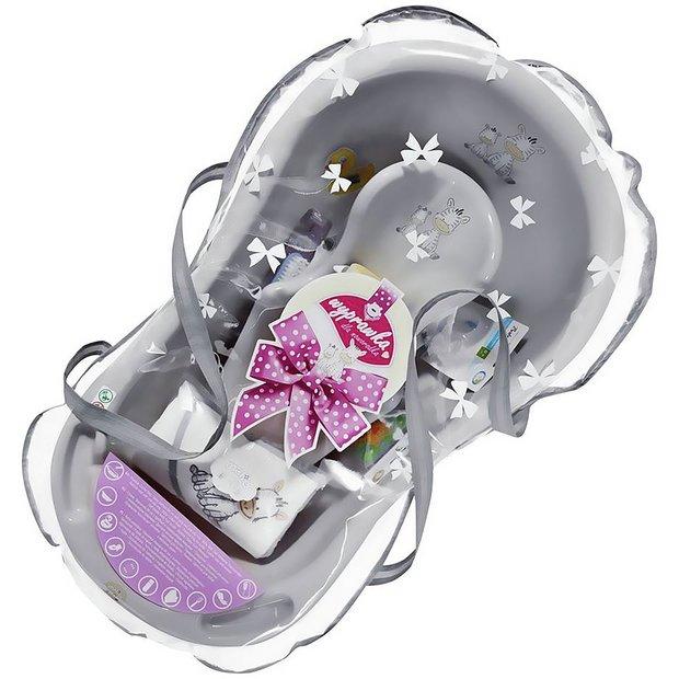 buy maltex zebra grey baby bath tub gift set 84cm at your online shop for baby. Black Bedroom Furniture Sets. Home Design Ideas