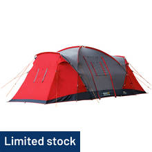 Regatta Atlin 6 Man 2 Room Tent - Pepper