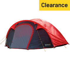 Regatta Kivu 4 Man 1 Room Dome Tent - Pepper