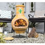 more details on La Hacienda Cardon Clay Chimenea.