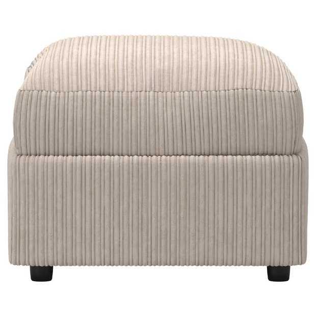 buy collection phoebe fabric storage footstool cream at. Black Bedroom Furniture Sets. Home Design Ideas