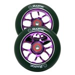 more details on Pair of 110mm ABEC9 Bearing Razor Scooter Wheels - Purple.