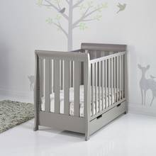 Obaby Stamford Mini Sleigh Cot Bed - Taupe Grey