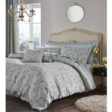 Catherine Lansfield Opulent Duck Egg Bedding Set - Kingsize