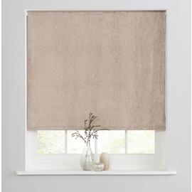 Casa Crushed Velvet Blackout Roller Blind - Champagne