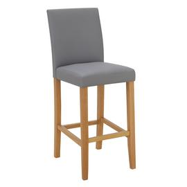 Argos Home Winslow Faux Leather Tall Bar Stool - Grey