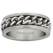 Revere Mens Stainless Steel Chain Ring