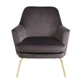 Habitat Celine Velvet Accent Chair - Dark Grey