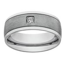 Revere Mens Stainless Steel Matt and Polished  Ring