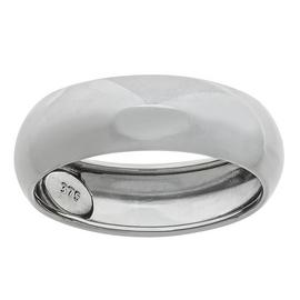 Revere 9ct White Gold D-Shape Wedding Ring - 6mm