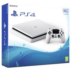 PS4 Slim 500GB Console - Glacier White