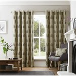 Curtina Ancona Eyelet Curtains - 168x229cm - Charcoal