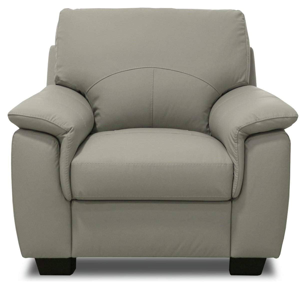 Argos Home Lukah Leather / Leather Effect Chair   Grey