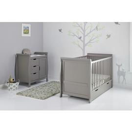 Obaby Stamford Classic Sleigh 2 Piece Room Set - Taupe Grey