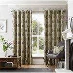 Curtina Ancona Eyelet Curtains - 229x229cm - Charcoal