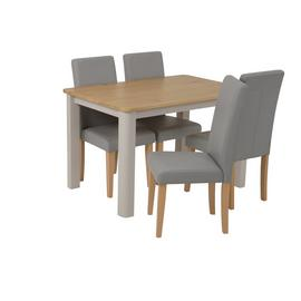 Argos Home Bournemouth Solid Wood Dining Table & 4 Chairs