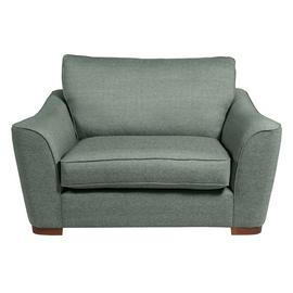 Argos Home Lotus Fabric Cuddle Chair - Seaglass