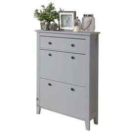 Deluxe Two Tier Shoe Cabinet