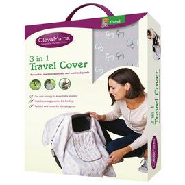 Clevamama 3 in 1 Travel Cover - Rose.