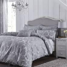 Catherine Lansfield Damask Silver Bedding Set