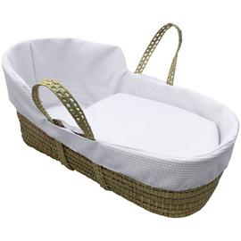 Clair de Lune White Waffle High Top Palm Moses Basket